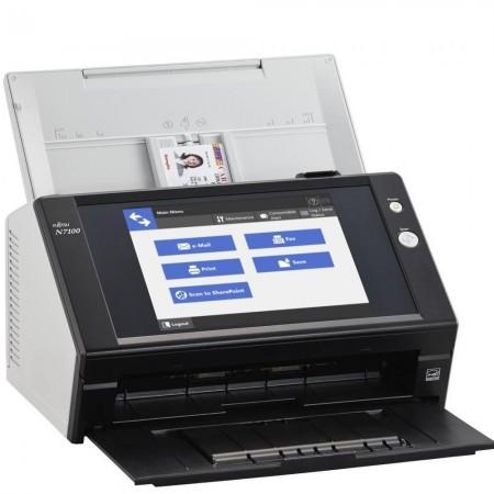 Fujitsu N7100 je Mrežni Skener A4 formata crne boje.